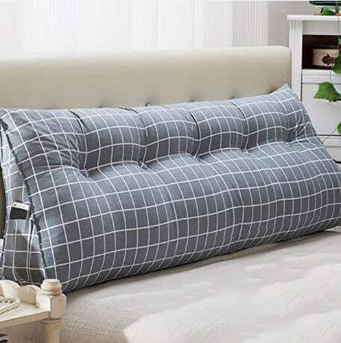 HUHD matras dubbele kop driehoek kussen kussen kussen lumbale sofa grote achterkant zachte tas bed lendensteun (kleur: A8, grootte: 2250135cm) 22 * 50 * 150cm 47