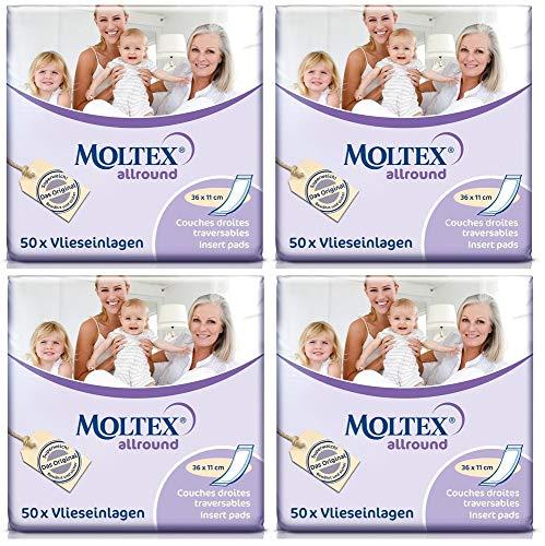 200 MOLTEX allround Hygiene Einlagen 4x 50er 36x11cm Inkontinenzeinlagen Damen u Herren