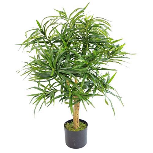 Blad Kunstmatige Ficus Boom, Groen Dracaena, 100cm