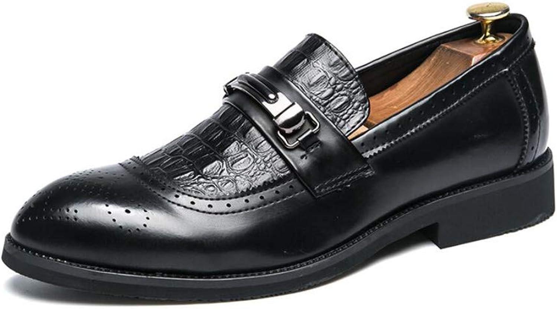 2018 Nyskor för för för män, klassiska läderskor, Springaa Fall Formal Point Toe skor, Dress Party skor, Loafer skor (Färg B, Storlek  44)  kom att välja din egen sportstil