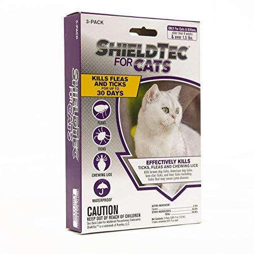 ShieldTec Flea and Tick Prevention for Cats, Kills Chewing Lice, Cat Flea Treatment (3 Dose)