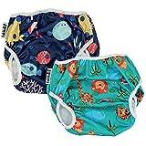 fakiku Pañales de natación con contenido, 0 – 36, ajustables y lavables y reutilizables, para...