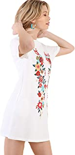 Umgee BoHo Beach Please! French Terry Embroidered Dress or Beach Cover