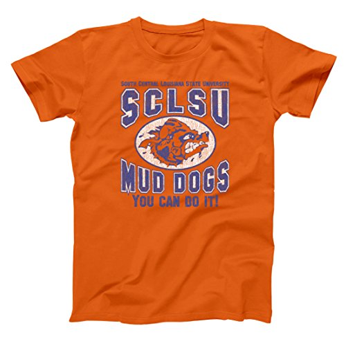 Mud Dogs You Can Do It Funny Classic Football Old School Sports SCLSU Muddogs Humor Mens Shirt XXXX-Large Orange