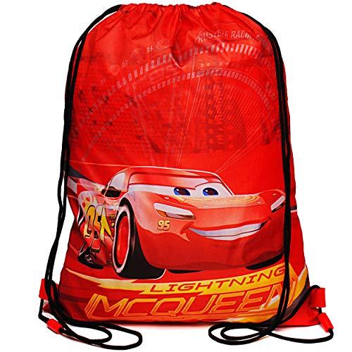 alles-meine.de GmbH Beutel / Tasche _ Sportbeutel - Turnbeutel - Schuhbeutel _ Disney Cars - Auto - Lightning McQueen - wasserdicht - wasserabweisend abwischbar - für Kinder Erwa..