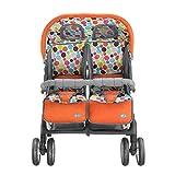 Sillas de paseo Twin Baby Trolley Can Plegable Doble Gemelos Cochecito de Bebé...