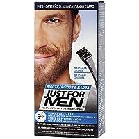 Just For Men, Tinte Colorante en gel para barba y bigote para hombre. Elimina las canas y cuida la barba en 5 minutos. Castaño Claro, 15 ml