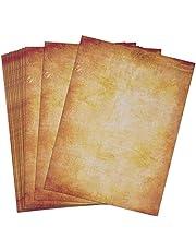 100 Hojas de Papel Antiguo Carta Pergamino Vintage DIN A4 (B)