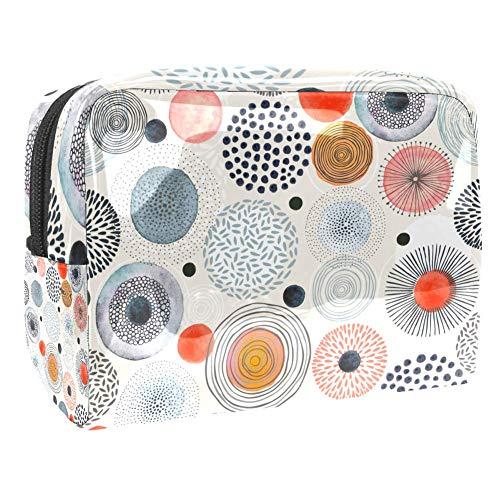 Trousse de toilette multifonction pour maquillage et maquillage - Organiseur pour femme - Motif cercles et points
