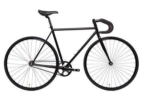 State Bicycle 6.0 Fixed Gear/Single Speed Bike Drop Bar, Matte Black, 52cm/Small