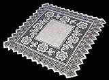 Table Topper Grega Design Brazilian Lace 29x29 Inches White Color 100 Percent Polyester