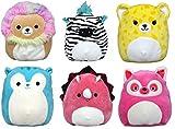 Squishmallow Kellytoy 2020 Set of 6 Mini 5' Bright Animal Squad Plush Toy