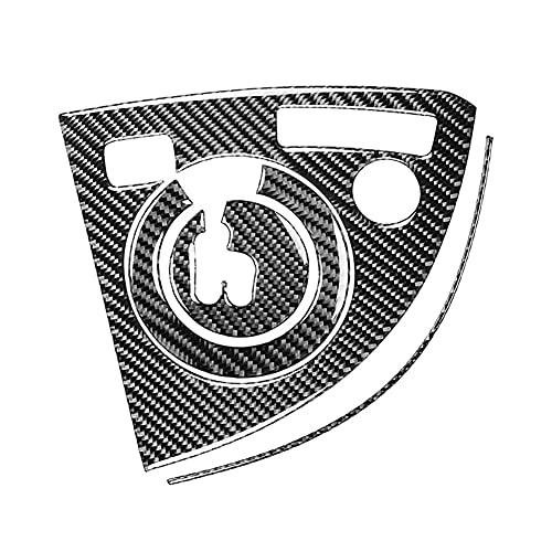 HUAER 4 unids Apto para Toyota Prius 2012-2015 Coche de Fibra de Carbono Control Central Mayúscula Cubierta de Cambio de Cuadro Cubierta Pegatina de Ajuste Accesorios