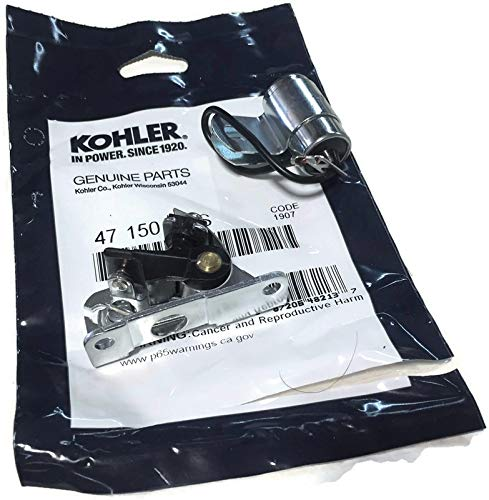 Outdoor Power Deals Ignition kit Replacement 230722S Condenser with 47 150 03-S Breaker Points Set Fit's Some Kohler Engines