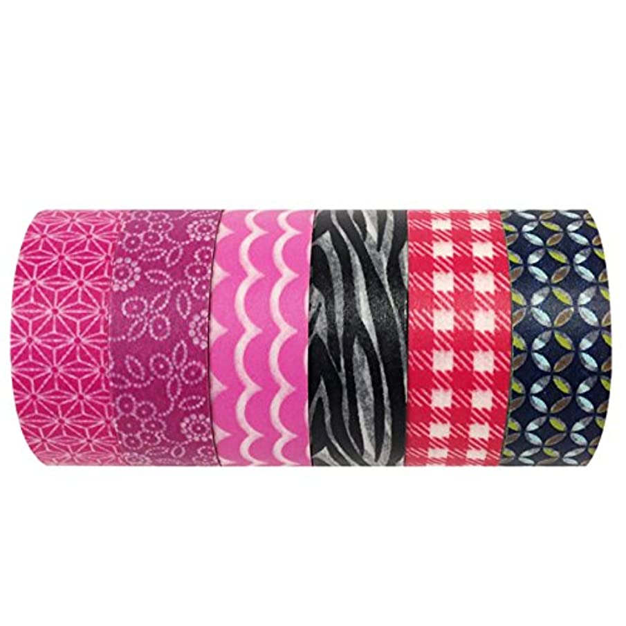 Wrapables Washi Masking Tape Collection, Premium Value Pack, Set of 6, VPK31