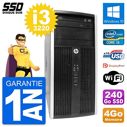 HP PC Torre Compaq Pro 6300 CMT Intel i3-3220 RAM 4 GB SSD 240 GB ...