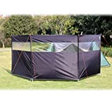 HIKEMAN Pantalla Solar al Aire Libre del Refugio del Viento Que acampa del día de Fiesta de la Playa de la protección contra el Viento de 4 Polos con la Ventana Superior (Negro)
