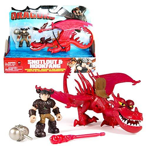 Dragons - Action Spiel Set - Drachen Hakenzahn & Reiter Rotzbakke