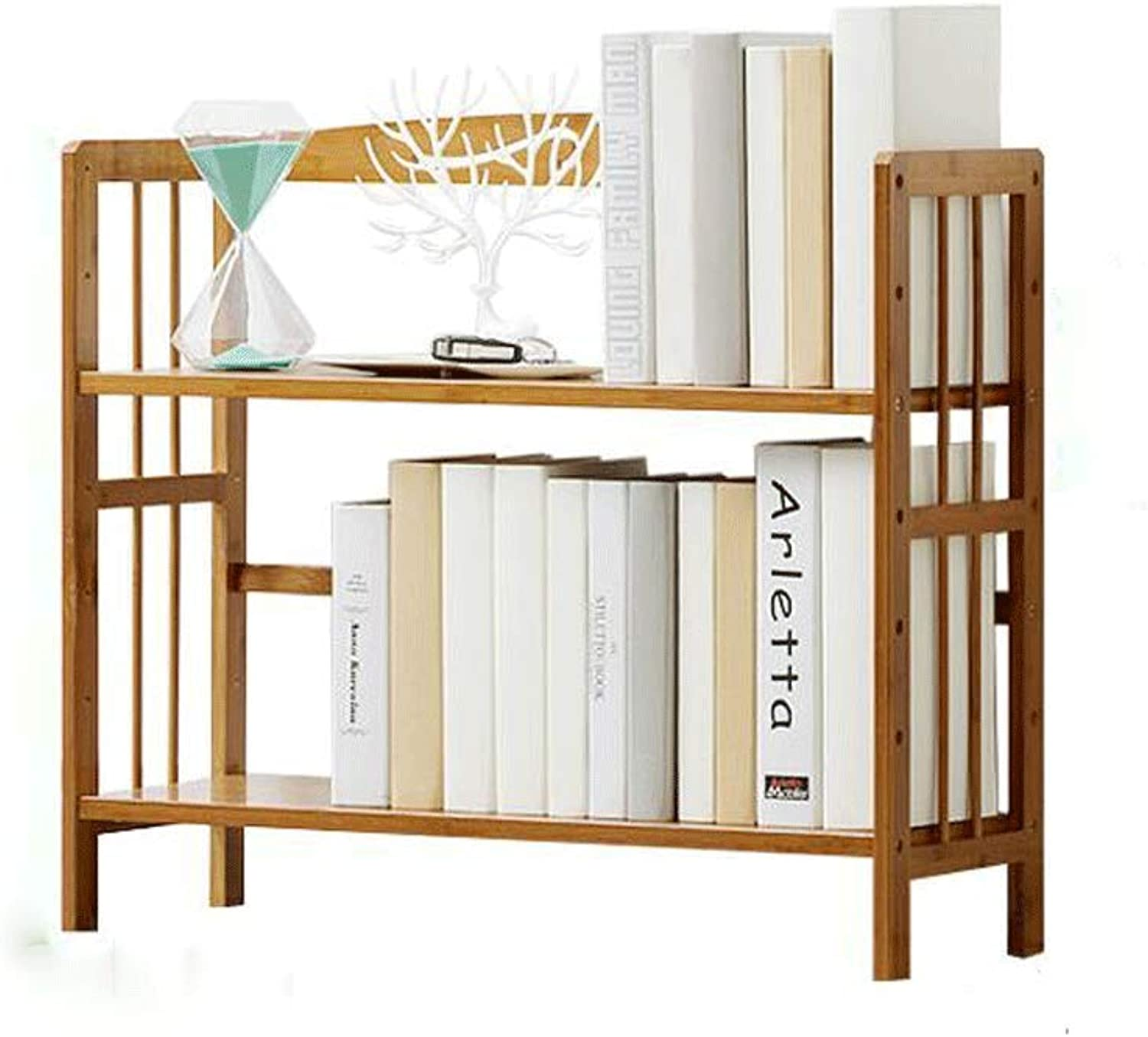 KTYXDE Wrought Iron Bookshelf Books Miscellaneous Lockers Simple Bookcase Display Rack Storage Rack 70x60x25cm Bookshelf