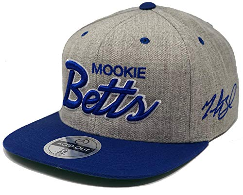 Aced Out Mookie Betts Script Hat - Snapback (Grey/Royal)