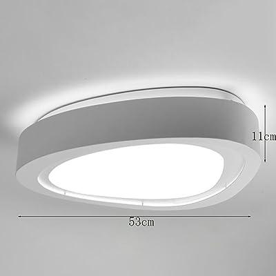 Lampe de plafond à économie d'énergie moderne --- LED Iron Simple Idées Modernes Plafonnier Salon Lampe Étude Chambre Chambre À Coucher Plafonnier (Ne pas inclure la source lumineuse) ( Couleur : Promesse gradation )