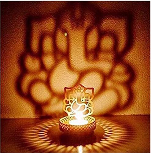 Ganesh Shadow Diya Diva – Dekoration für Zuhause / Büro / Mandir / Diwali – religiöser Teelichthalter