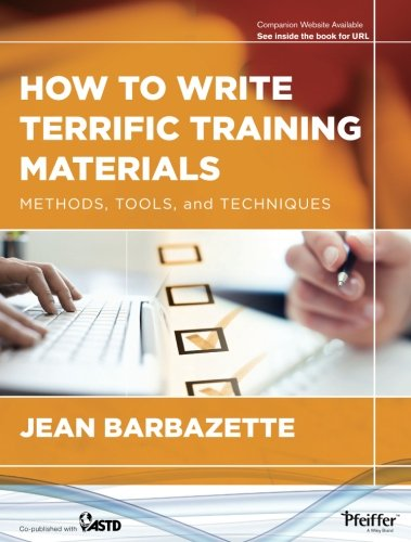 Image OfHow To Write Terrific Training Materials: Methods, Tools, And Techniques