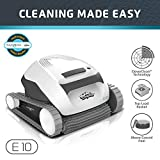 Dolphin E10 Automatic Robotic Pool Cleaner with Easy to Clean Top Load Filter Basket Ideal for Above Ground Swimming Pools up to 30 Feet