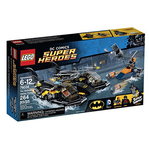LEGO Super Heroes 76034 the Batboat Harbor Pursuit Building Kit by LEGO