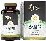 [page_title]-Natürlicher Vitamin C Komplex - 240 Kapseln - Acerola-Extrakt & Hagebutten-Extrakt mit 400 mg Vitamin C pro Tagesportion - 4 Monatsvorrat - Hochdosiert - Laborgeprüft - Vegan