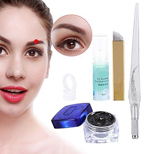 Permanent 3D Make-up Augenbraue Tattoo Nadeln Stifte Pigment Set, Augenbrauen Microblading Pen...