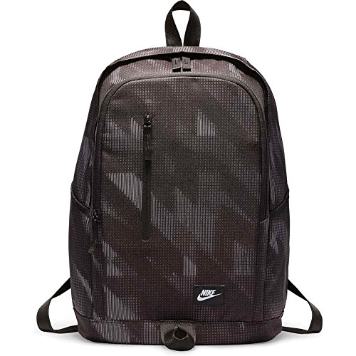 Nike Rucksack All Access Soleday AOP, Black/White, 10 x 6 x 5 cm