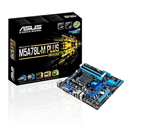 ASUS M5A78L-M Plus/USB3 DDR3 HDMI DVI USB 3.0 760G AM3+ based Motherboard,Black