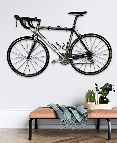 StoreYourBoard Naked Bike Wall Display Mount, Floating Bicycle Storage Rack, Adjustable Home Garage Apartment Hanger
