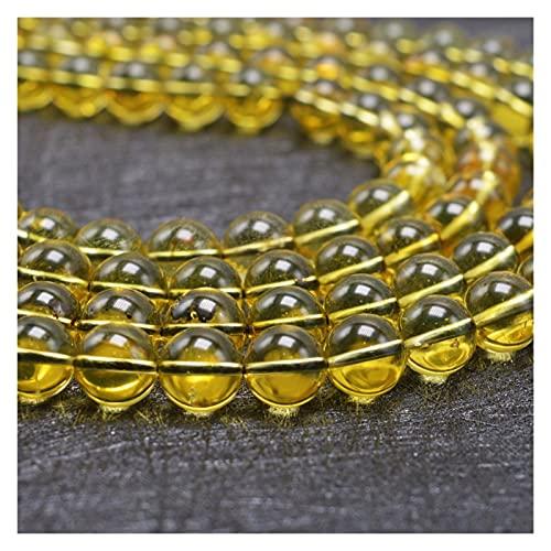 Delawen Natural México Amber Beads Flood Redondo 8mm (Color : 8mm)