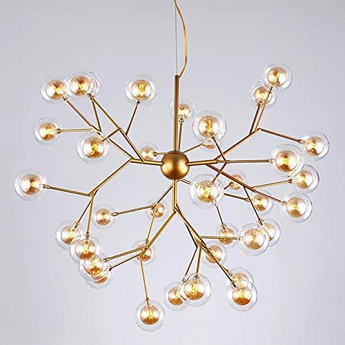 CHENJUNAMZ Lámpara de Cristal nórdica de la Sala de Estar Lámpara de araña de Bolas de Burbujas LED posmoderna Simple 36 Diámetro de la Cabeza 72 * Alto 57 cm (Color : Marrón)