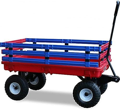 Charrette Trekker Wagon rot und blau rot und blau