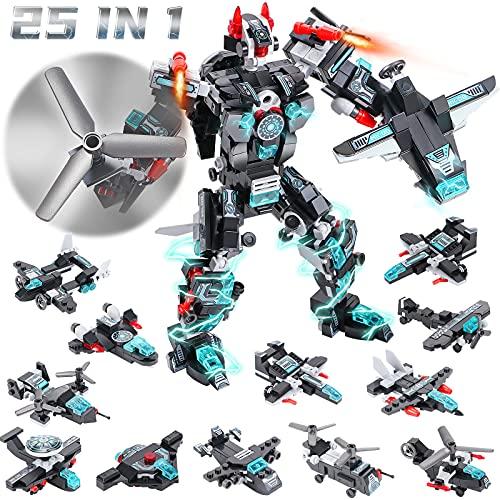Tacobear Juguetes de Construcción Stem Bloques de Construcción 25-en-1 Robot de Construcción Creativa Educativo Juguete Regalos para Niños y Niñas 8 9 10 11 12 Años