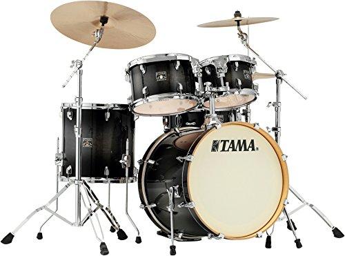 "Tama CL50R-TPB Superstar Classic Drumkit (5-teiliges Schlagzeug, 20\"" Bass Drum, Ahornkessel, lackierte Oberfläche, inkl. Hardware) Transparent Black Burst"