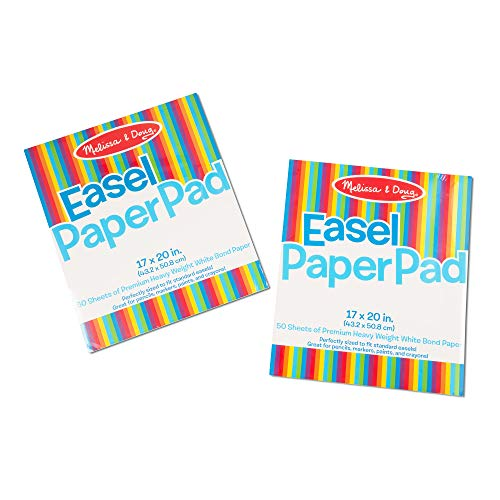Melissa amp Doug Easel Paper Pad TopBound Pad Premium White Bond Paper 2Pack with 50 Sheets 17 × 20 inches Great Gift for Girls and Boys  Best for 2 3 4 Year Olds and Up