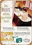 Cartel de metal – Jabón de baño de cisne de 1930 – Reproducción de aspecto vintage cartel de lata de 30,5 x 20,3 cm para decoración de pared del hogar