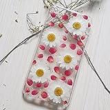 Coque de téléphone Samsung Note 5 avec fleurs pressées - Coque rigide transparente pour Samsung...