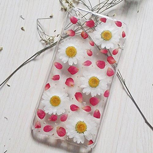 Carcasa para Samsung Note 5 con diseño de flores prensadas para Samsung Galaxy Note 5