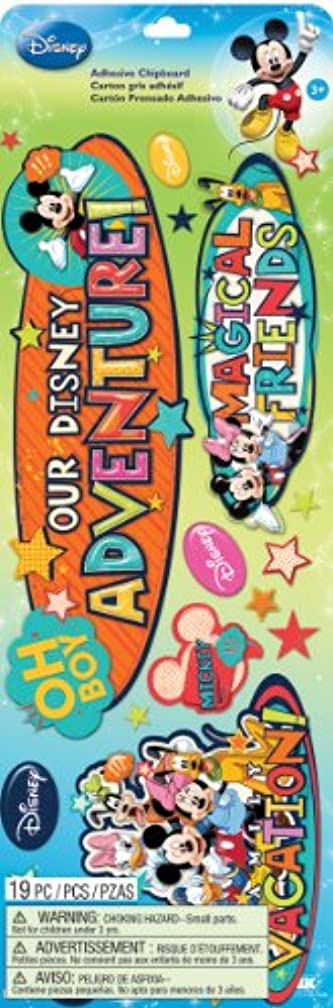 EK Success Disney Chipboard Stickers, Mickey Family Titles