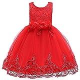 Berngi Berngi - Vestido de novia de encaje con lentejuelas, vestido de princesa para niñas