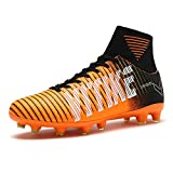 WETIKE Kids Soccer Cleats for Boys Youth Cleats Football Boots with High Ankle Sock Cleats for Soccer Athletic Running Performance Shock Buffer Foot Care(Little Kid/Big Kid)