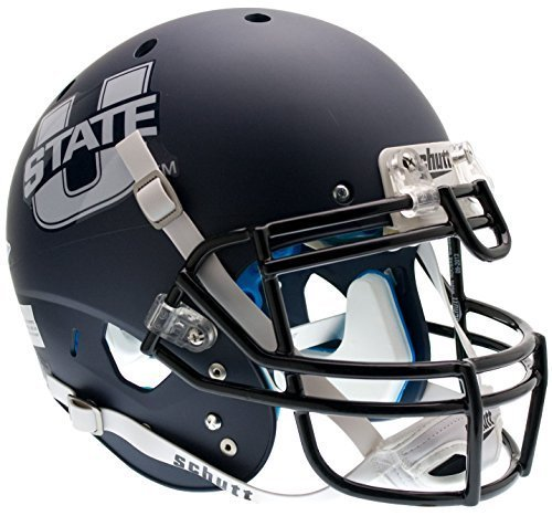 UTAH STATE AGGIES Schutt AiR XP Full-Size AUTHENTIC Football Helmet (MATTE NAVY) by ON-FIELD