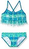 Kanu Surf Girls' Big Kelly Beach Sport Fringe 2-Piece Bikini Swimsuit, Kayla Blue/Green Tie-Dye, 10
