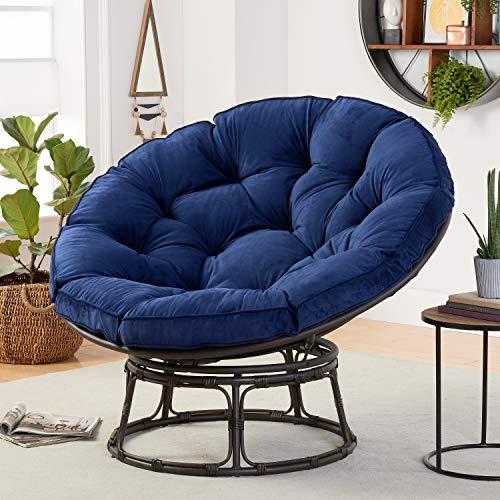 Better Homes & Gardens Papasan Chair with Fabric Cushion (Navy)