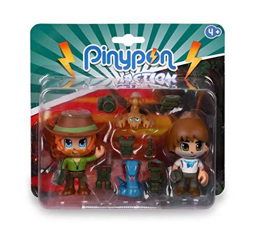 Pinypon Action Wild. 2 Figuras con 2 animales para niños y niñas de 4 a 8...